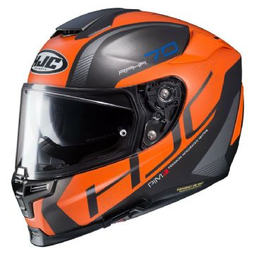 HJC RPHA 70 Vias Orange MC7SF Motorcycle Full Face Helmet Orange Free Pinlock